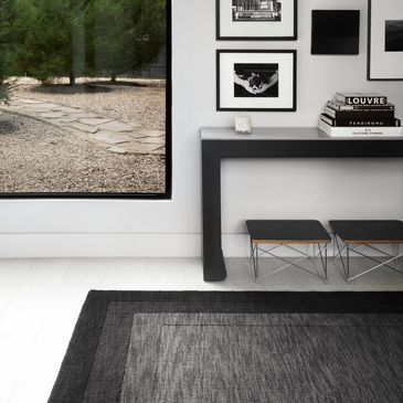 HM-01 Grey/Charcoal Design; Hamilton Collection; Transitional Style Rugs; Hand-Loomed