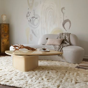YG-03 Oatmeal / Ivory Design; Hygge Collection; Contemporary Style Rugs; Hand-Loomed