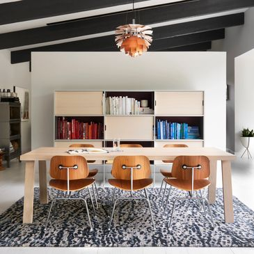 JY-01 Steel / Blue Design; Juneau Collection; Contemporary Style Rugs; Hand-Tufted