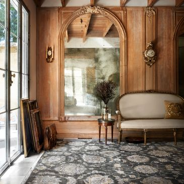 KG-07 Charcoal Design; Kensington Collection; Traditional Style Rugs; Hand-Knotted