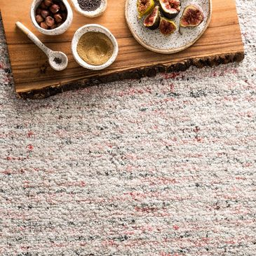 KL-03 Grey / Coral Design; Klein Collection; Traditional Style Rugs; Hooked