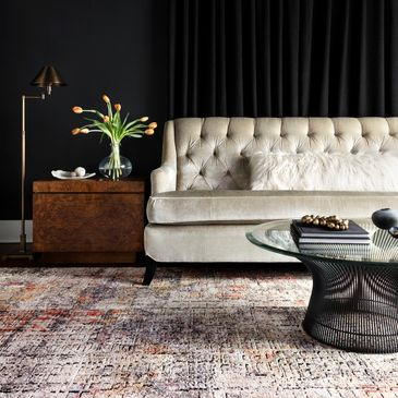 MED-07 Graphite / Sunset Design; Medusa Collection; Contemporary Style Rugs; Power-Loomed