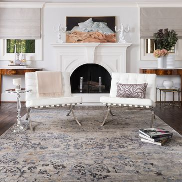 MK-01 Iron Design; Mirage Collection; Transitional Style Rugs; Hand-Knotted