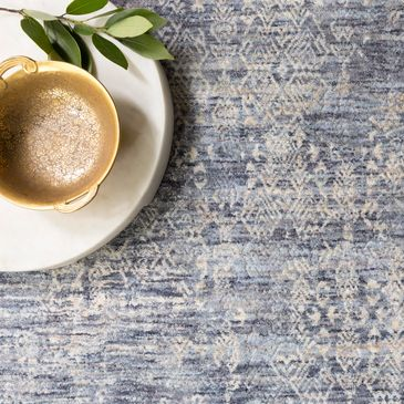 PAN-03 Dark Blue Design; Pandora Collection; Traditional Style Rugs; Power-Loomed