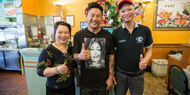 Judy and Lupe with Chef Roy Choi