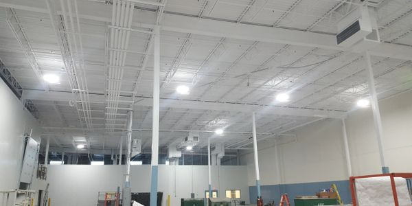 Commercial industrial ceiling cleaning Wisconsin overhead upper decking rafters