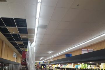 Ceiling tile replacement, grid and fixture top-coating options. Madison, Milwaukee, Green Bay, Wisc.