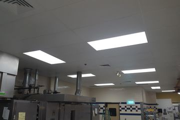 Deli Bakery ceiling and wall cleaning, restoration and repair. Madison, Milwaukee, Green Bay, Wisc.