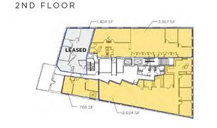 Three remaining floor plans for lease starting from 768 sq. ft. to 3,654 sq. ft.