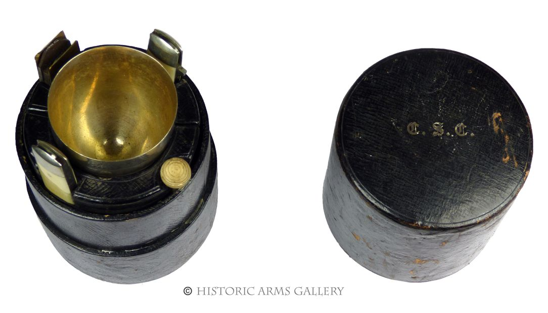 Crimean War Period Campaign Cutlery Barrel with Goblet