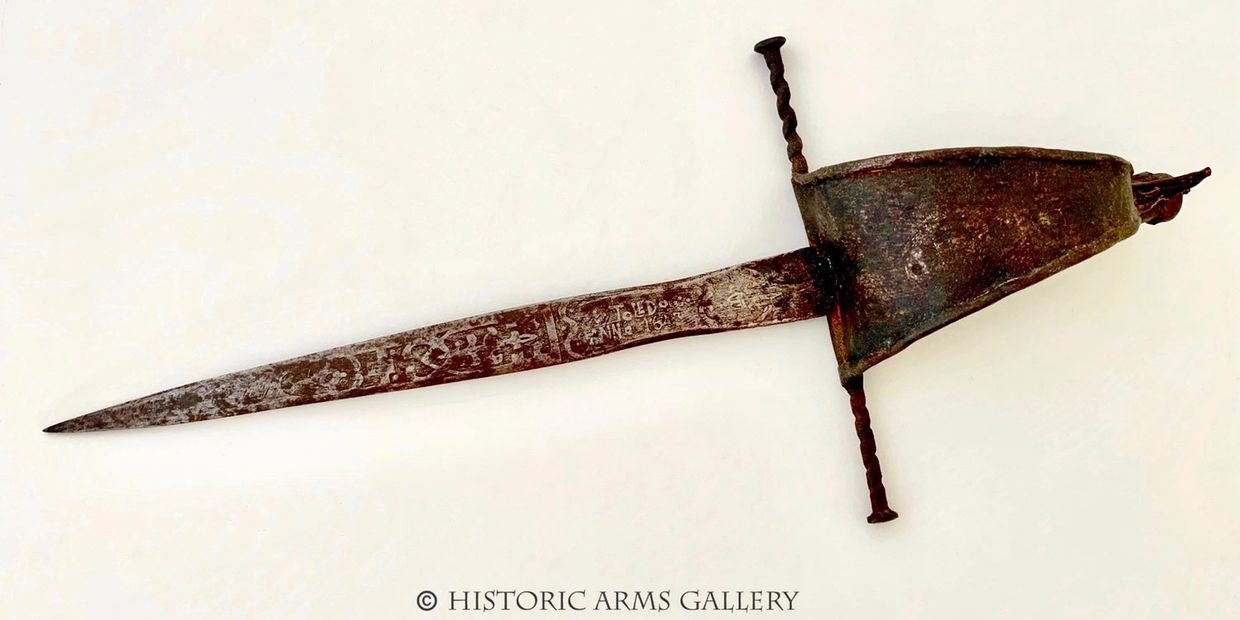 English Civil War Main Gauche with Dated Blade