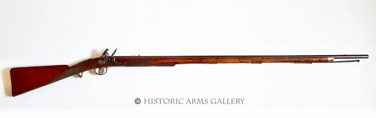 A Good Quality 18th Century Colonial Style Flintlock English Long Fowler marked Wooler