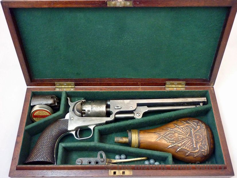 A unique Cased Colt Model 1851 Navy Revolver with two cylinders, 36 calibre, s/n 28969