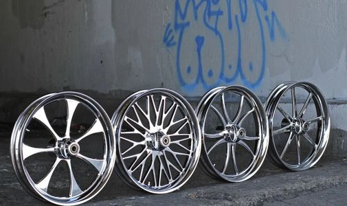 Custom Forged Billet Motorcycle Wheels in Los Angeles