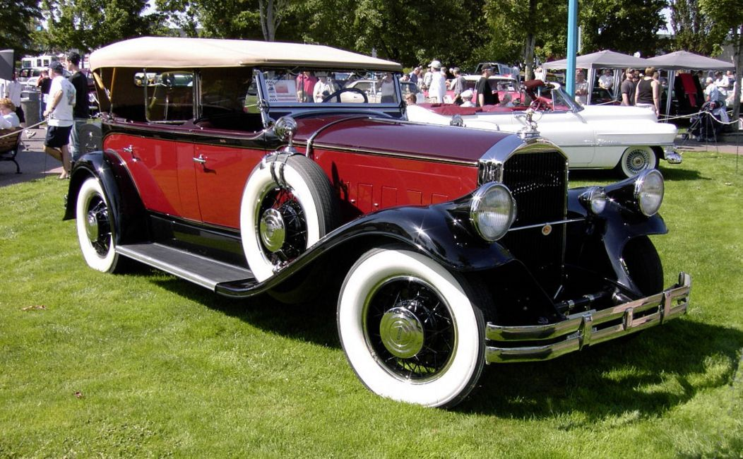 Pierce-Arrow from the 1930s. Probably what Tesla tested as an electric vehicle conversion.