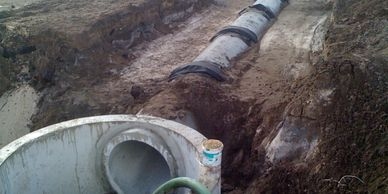 Civil engineering services near me.  A photo of work prepared by a drainage engineer.