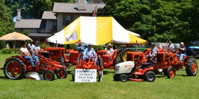 Allis Chalmer, the featured tractor and related equipment, at our 2019 Annual Show.