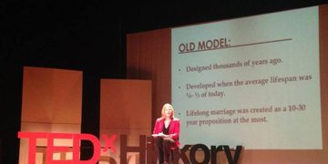 "Liza Shaw presenting her workshop, ""Marriage 2.0"" at TedX Hickory 2014"