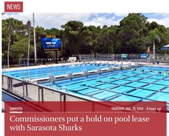 Exclusive Lease with Sarasota County and the Sarasota Sharks Inc put on HOLD