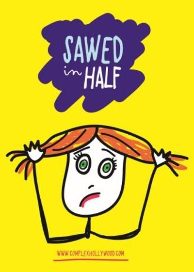 "Poster for ""Sawed In Half,"" starring ""America's Funniest Mom"" Andrea Mezvinski, co-written and direc"