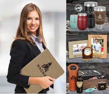 Personalized Gifts and Promotional Products.  Natural Bamboo, Wine and Flask Gift Sets.
