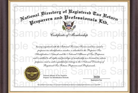 Robert is a Member of the National Directory of Registered Tax Return Preparers and Professionals,