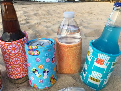 Fabric Beverage Wraps for soda, water, beer and more | Merry Stitches