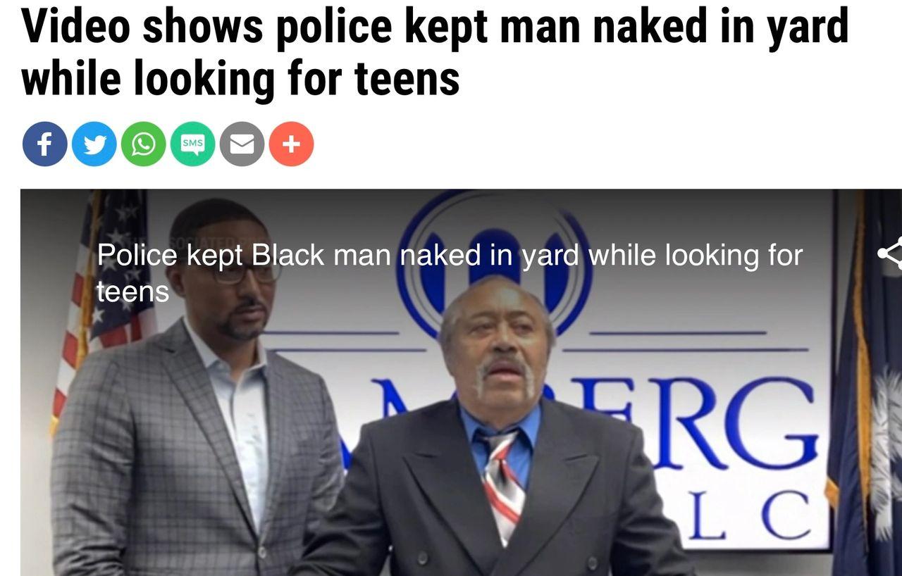 Police chief warns man he shouldn't sleep naked.