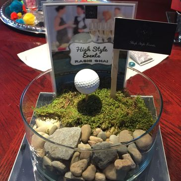 Golf Centrepiece for Adults Event Planning centrepieces