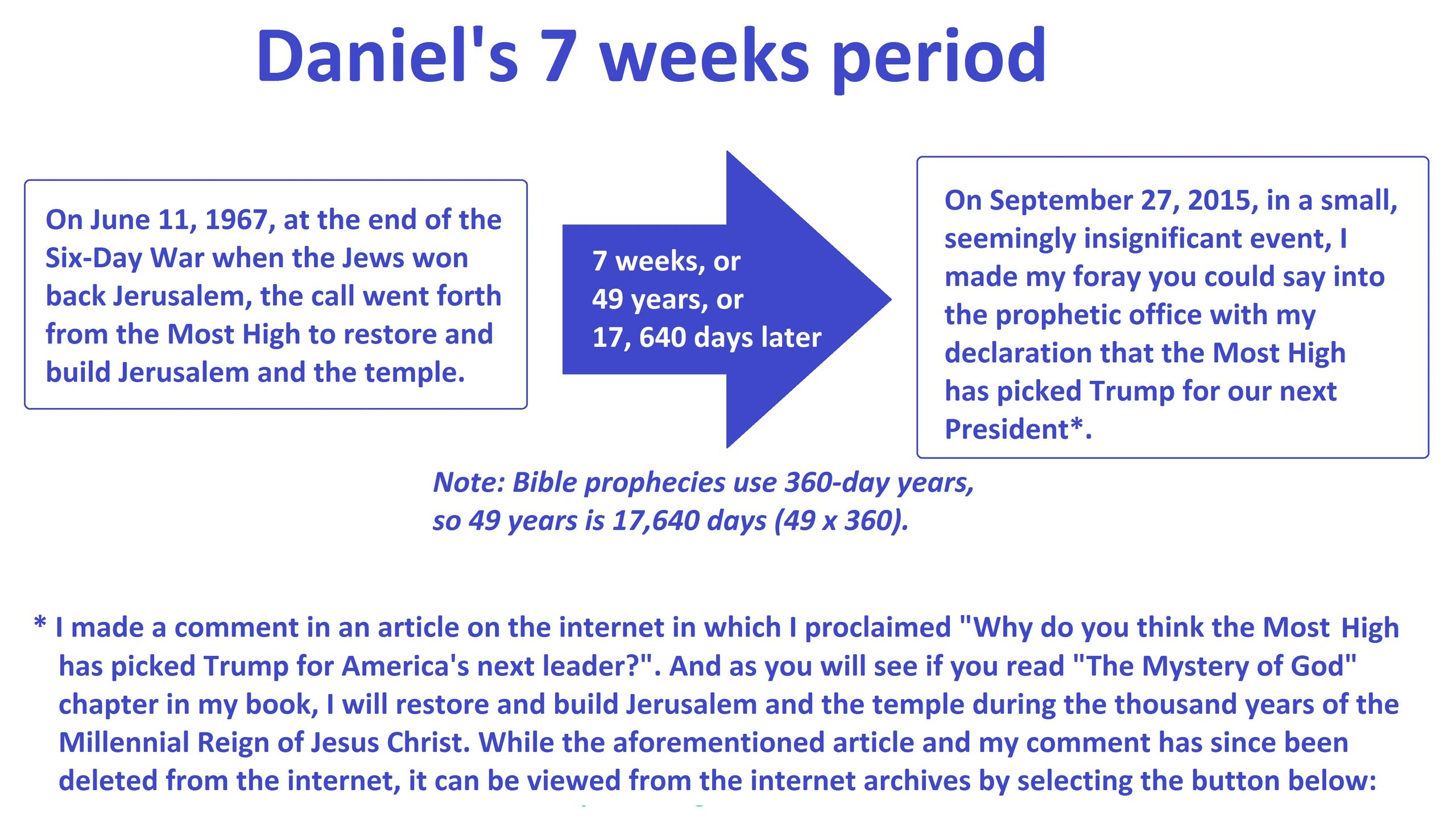 Daniels 70 Weeks Prophecy   The Sons of God: A Discourse on
