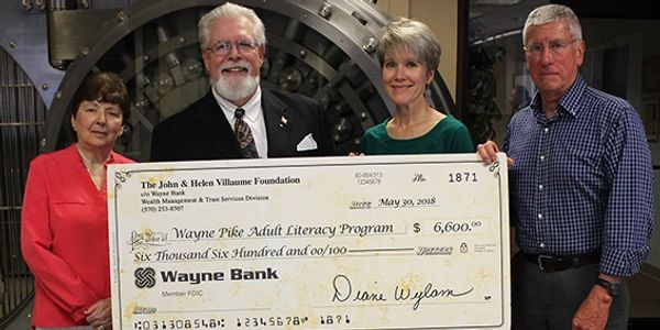 Wayne Pike Adult Literacy Program receives grant from the John & Helen Villaume Foundation.