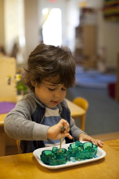 Montessori toddler practical life work