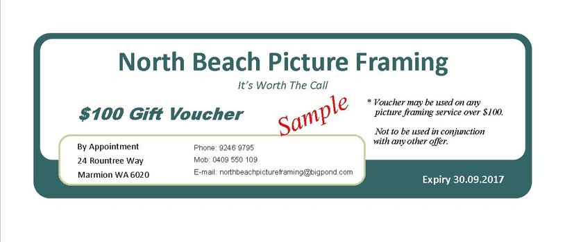 Gift vouchers available in any amount