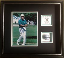 Golf ball and photo signed by Gary Player