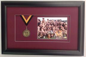 AFL medal and team photo