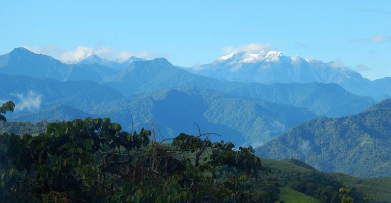 Vista of Guagua Pichincha volcano, seen from the Palmitopamba region, Ecuador