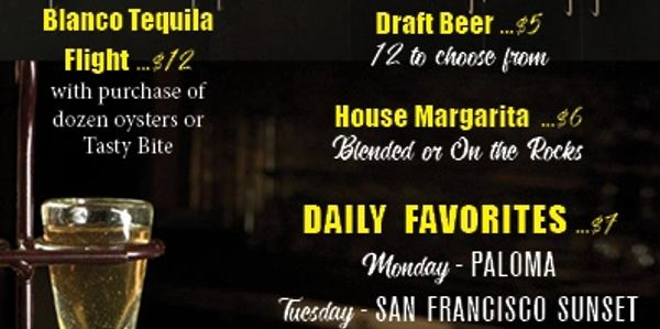 Happy Hour Drinks at El Agave Azul Mexican Restaurant and Tequila Bar