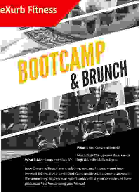 Bootcamp and Brunch workout