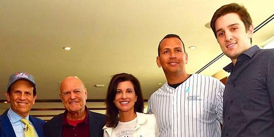 Ryan Van Wagenen with Mike, Papa, Mama, and Alex Rodriguez in New York
