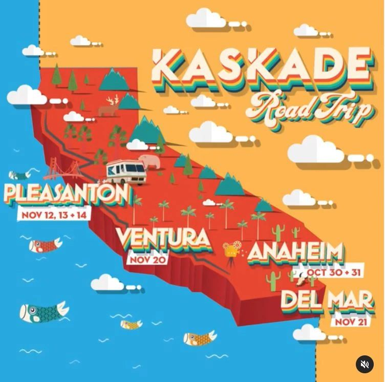 Drive in Rave, Raves, Kaskade Cali Tour, 2020 Kaskade Tour, Kaskade Road Trip, Kaskade Corona Tour, Kaskade 2020 Tour COVID, California Kaskade Tour, Cali Kaskade 2020, Kaskade Tour Sities CA, 2020 CA EDM, Kaskade Drivein, Kaskade Drive In Cities, Kaskade Sunsoaked 2020