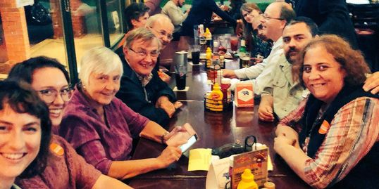 York-Simcoe NDP Riding Association members and volunteers after provincial election.