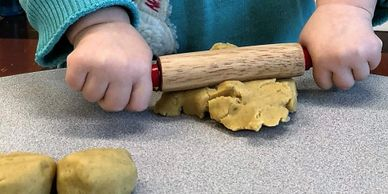 play dough play doh rolling grasping