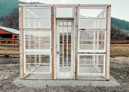 Vintage window Greenhouse, DIY Greenhouse