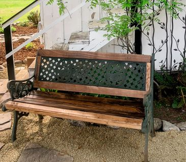 Walnut park bench