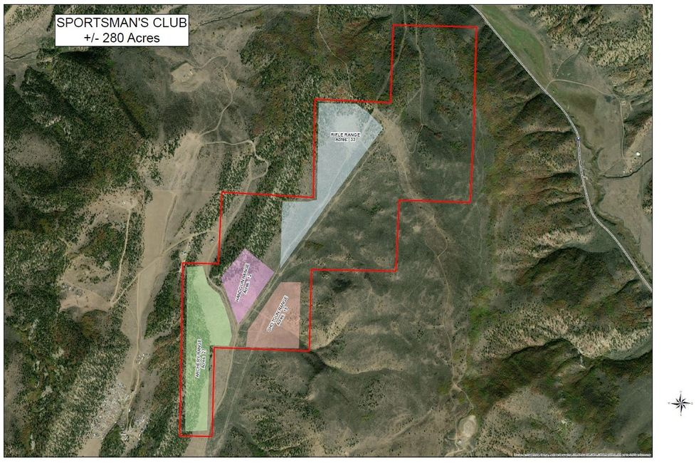 New Range Property - 3600 Lion Canyon Road. Initial proposed range layout