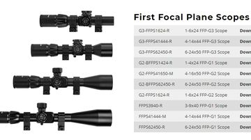 First Focal Plane Scopes Manuals
