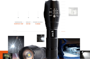 TC12oo FLASHLIGHT TC1200 American Made - Most Powerful Single LED in Market – 1200 Lumen output