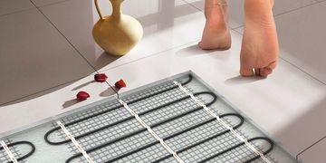 underfloor heating for wall and floor tiles by la fabrico Exeter Devon