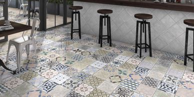 Decorative & Patterned Tiles WALL TO FLOOR TILE LUXURY in Exeter Superior tiles at affordable prices