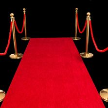 Red ropes, brass bollards, red carpet. Photobooth hire Perth.  Vogue Booths.